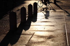 Ride light (Elios.k) Tags: road street camera travel sunset shadow summer people italy sun sunlight color colour reflecti