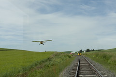 Roll by Palouse Country Style (Trevor Sokolan) Tags: railroad plane aircraft railway idaho speeder palouse mt19 narcoa