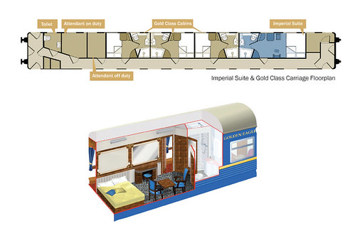 Golden Eagle Trans-Siberian Express - Imperial Suite plan