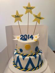 Graduation Cake (dms81) Tags: blue school yellow cake gum stars high paste graduation chevron fondant gumpaste northmyrtlebeach nmb
