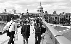 Tourists on Millennium Bridge, London SE1, 18th June 2014 (joelmeadows1) Tags: bridge london thames river tourists millennium