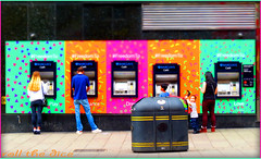 `1128 (roll the dice) Tags: life uk portrait people urban money blur colour sexy london art classic love girl westminster fashion canon shopping freedom funny pretty notes cigarette candid magic strangers streetphotography bank smoking grill eros busy dreams blonde rubbish unknown leicestersquare denim fags mad w1 charingcross westend cashpoint barclays unaware wc2 londonist