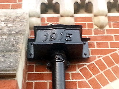 1915 Drainpipe at  Douai Abbey