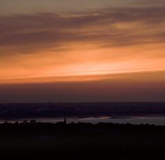 sunset sky reflected in wet sand Dublin bay (Wendy:) Tags: sunset dublin wet sand reflected lowtide