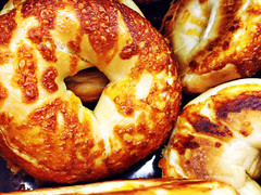 B is for ... (!efatima) Tags: food brown catchycolors yummy beige dough bagel efatima fried delish