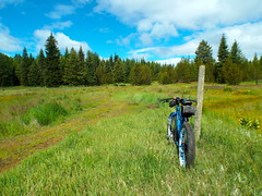 Waha Fat Tire Ride (Doug Goodenough) Tags: summer sun bike bicycle clouds ride spokes idaho views pedals pugsley surly gravel waha 2014 fatbike drg53114p drg53114ppugs drg531ppugsley