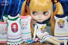 Pamdolls little dresses for little girls (♥PAM♥dolls♥) Tags: cute illustration outfit dolls dresses blythe pamdolls