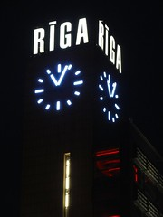 Riga by night