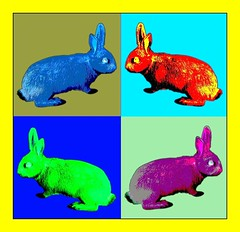 POP ART RABBITs ii (oliver.odd - strangely peculiar) Tags: abstract colour art animals fruit design pop warhol apples brightcolors rabbits psychedelic ideas stickybeak hypotheticalawards