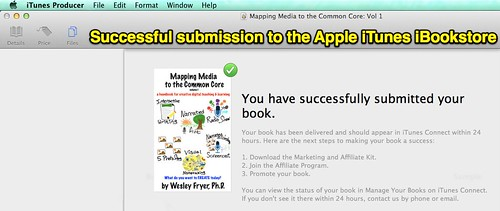Successful submission to the Apple iTune by Wesley Fryer, on Flickr