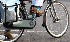 Riding Wild (AnyMotion) Tags: street travel woman amsterdam bicycle reisen boots strasse thenetherlands frau fahrrad stylish fiets 2014 stiefel anymotion canoneos5dmarkii amsterdamimpressions 5d2 leoparddesign