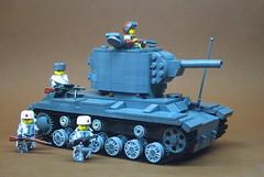 "Soviet KV-2 Heavy Artillery Tank (1) • <a style=""font-size:0.8em;"" href=""https://www.flickr.com/photos/12426416@N00/14604497783/"" target=""_blank"">View on Flickr</a>"