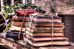 Some old books (B.B.H.70) Tags: madrid old espaa bench cuerda market sunday banco some books getty string flea libros viejo rastro viejos