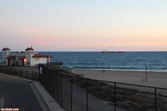 DockweilerDusk (mcshots) Tags: ocean california sunset sea sky usa beach nature water bikepath clouds fence evening bay coast ship view stock july socal summertime sands mcshots overlook swells oiltanker losangelescounty dockweilerstatebeach