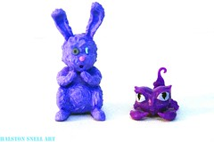 Dust Bunnies, Scorpions (Cerulean Fish) Tags: pet pets rabbit bunny monster toy toys high sting scorpion figurines wishes figure dustin sultan dust figurine 13 figures mattel mhpets