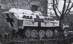 "Sdkfz251 ""sani"" notice the extra track links on the side of the rear superstructure."