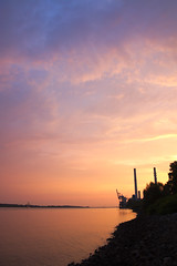 [untitled] (dittma_d) Tags: sunset river hamburg powerplant elbe wittenbergen rissen