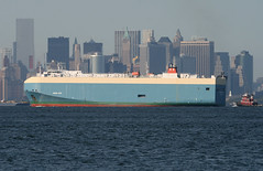 ADRIA ACE in New York, USA. July, 2014 (Tom Turner - SeaTeamImages / AirTeamImages) Tags: city nyc blue usa newyork water skyline port bay harbor marine ship skyscrapers unitedstates harbour manhattan transport spot pony transportation newyorkskyline manhattanskyline statenisland bigapple channel spotting roro waterway carcarrier autocarrier tomturner vehiclecarrier mariitme adriaace