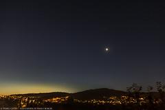 Despertando (TempoCativo) Tags: sky moon sunrise stars estrelas cu lua amanhecer braga nascerdodia quartominguante cu tempocativo