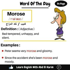 ... Word Of The Day   Morose ...