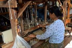 30098735 (wolfgangkaehler) Tags: asia asian southeastasia myanmar burma burmese inlelake villagelife lake innpawkhonevillage woman workshop people worker working weaver weaving weavingloom weavinglooms weavingcloth loom looms