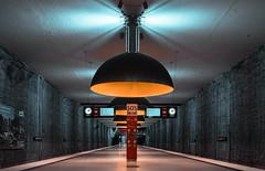 Sitting in a Bunker here behind my Wall (*Capture the Moment*) Tags: 2015 architecture architektur dynamic dynamik farbdominanz fotowalk häuserwohnungen innenarchitektur insightview interiordesign leute munich münchen orange people sonya7m2 sonya7mark2 sonya7ii sonyfe1635mmf4zaoss sonyilce7m2 subway ubahn westfriedhof yellow gelb