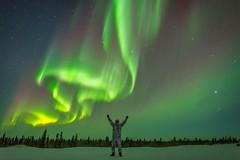 Touching the sky (Nedko Nedkov) Tags: manitoba wapusk wapusknp watcheelodge landscape milkyway night nightphotography