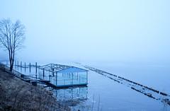 Cold & Blue (MarxschisM) Tags: riga latvia daugava river mist fog blue