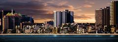 Left Coast, California (beachpeepsrus) Tags: city clouds california beach beachfront longbeachcalifornia longbeachgranprix light lifeguardstation lbmarina l