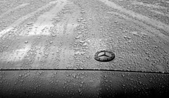 #synecdoche (John (thank you >1 million views)) Tags: flickrfriday synecdoche carbonnet mercedesbenz rainfall abstract monochrome bw blancoynegro minimalist whiteladiesrd bristol