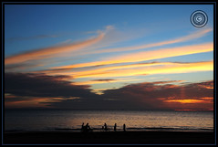 Myanmar (Burma) (Wioletta Ciolkiewicz) Tags: myanmar burma asia bayofbengal indianocean ngwesaung sunset beach sky water photoborder outdoor clouds wiolettaciolkiewicz shore