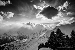 Mount Blanc 4 (ignacy50.pl) Tags: mountains monochrome highmountains sun snow sky winter clouds light landscape winterlandscape alps france trees ignacy50 blackandwhite outdoor travel