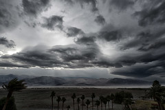 """Stormy Thursday"" (helmet13) Tags: d800e raw landscape deathvalleynationalpark california desert storm sky clouds wind sand nature furnacecreek mountains aoi heartaward peaceaward platinumheartaward 100faves world100f"