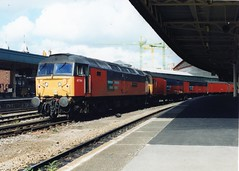 "47784 ""Condover Hall"" (Sparegang) Tags: 47784 47135 47664 47819 class47 477 brushtype4 sulzer res bristoltemplemeads westernregion 1999"
