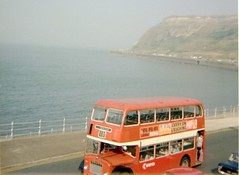 Failed shot, North Bay, Scarborough (Lady Wulfrun) Tags: failedshot united bristol fs lodekka northbay scarborough summer1976 1976 holiday britain warm british red doubledecker