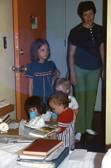 Lisa with the Kovacs in Norman (franksfunnyfarm) Tags: 1974 frank kovac lisa norman sil