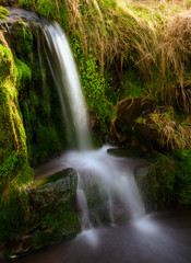Baby Waterfall (absynth100) Tags: waterfall wales water stones rock stream breconbeacons flowing green