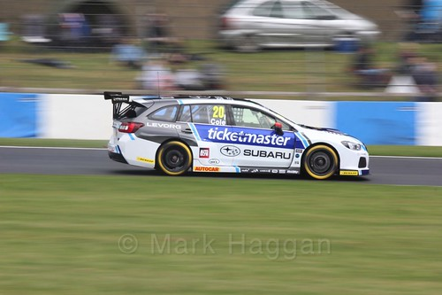 James Cole in race one at the British Touring Car Championship 2017 at Donington Park