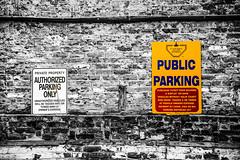 (SONICGREGU) Tags: parkingsign wall nikond610 nikon selectivecolor ontario toronto downtownparking parking publicparking