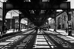 Waiting for the subway in Brooklyn... (Bruno Bastin) Tags: brunobastin brooklyn newyork nikond750 nikon streetphotography urban photography nyc urbanphotography perspective blackwhite noiretblanc