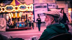 Good life (HouseCatt) Tags: old man human photography good life deep thought street nikon person carousel bokeh