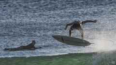 Surfing Burleigh #402 (BAN - photography) Tags: surfers surfboard flying wave spray sunlight sea ocean burleighheads d500