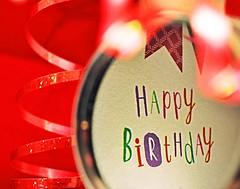 Happy 10th Birthday to Macro Monday (flowergirlaaa) Tags: hbmm macromonday happy10years happybirthday party greeting mirror reflection bokeh red celebration lens