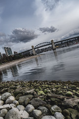 Walk at the beach (vancouvertones) Tags: pacificnorthwest vancouver pnw britishcomlumbia westend sunsetbeach cloudy