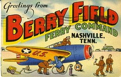 Postcard of Berry Field (Nashville Public Library) Tags: nashville aviation flight airplane airport bna tennessee tn national guard postcard