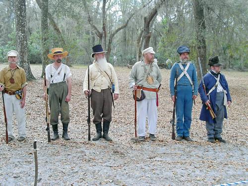 Militia Reenactors, Fort Cooper State Park