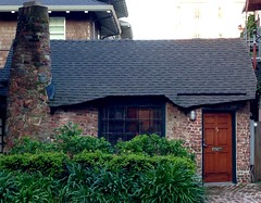 Storybook Cottage. East Bay. CA. (melystu) Tags: brick house storybook whimsical berkeley ca small tiny chimney roof entry facade onestory low irregular
