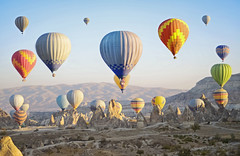 (marozn) Tags: turkish kapadokya cappadocia ballooning ride balloon outdoor turkey fly travel freedom many people multicolor transport unesco colorful sunrise transportation tourism aircraft background flight geology hot hill aerial goreme rock holiday valley morning basket aviation ancient landscape air balloons ballon baloon nevsehir famous fortress castle uchisar houses