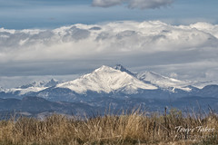 April 8, 2017 -  A snow covered Mount Meeker. (Tony's Takes)