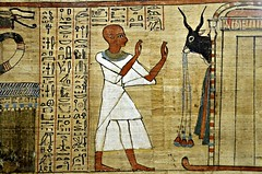 Egyptian papyrus, Book of the Dead (shadowbilgisayar) Tags: bookofthedead egyptianculture papyrus hieroglyphics cairo pharaoh art ancient god manuscript parchment textured scribe history paper antique archaeology egyptiangod vellum ancientcivilization ancientegypt egypt italy